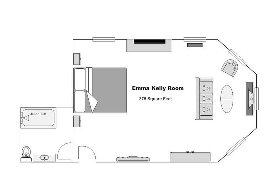 The Emma Kelly Room floorplan