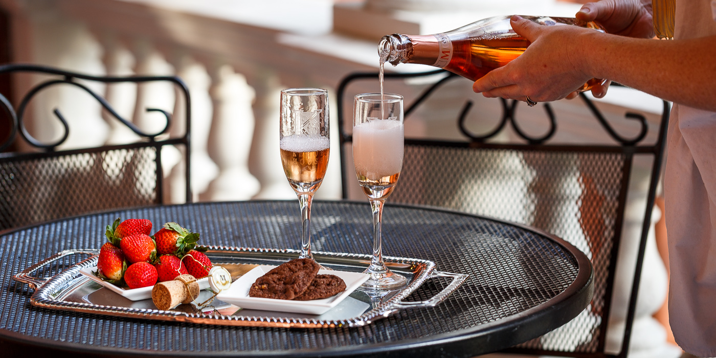Romantic Savannah Getaway Champagne and Strawberries