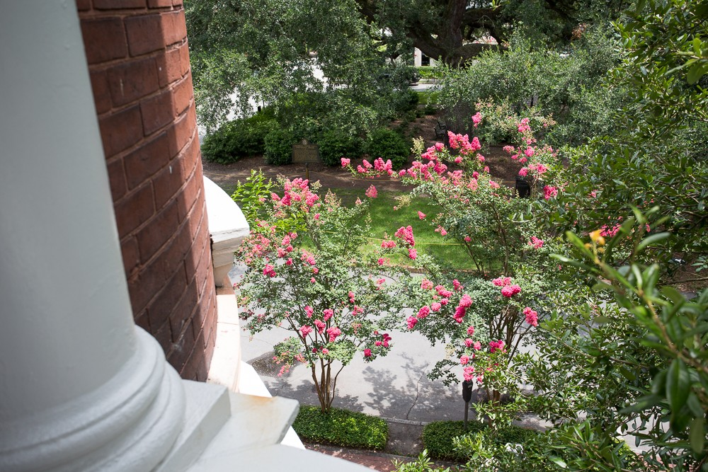 View of Columbia Square from the Mercer and Bolzius Balcony