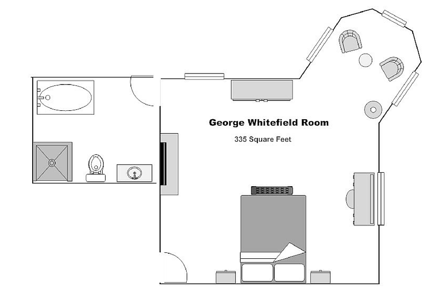The George Whitfield Room floorplan